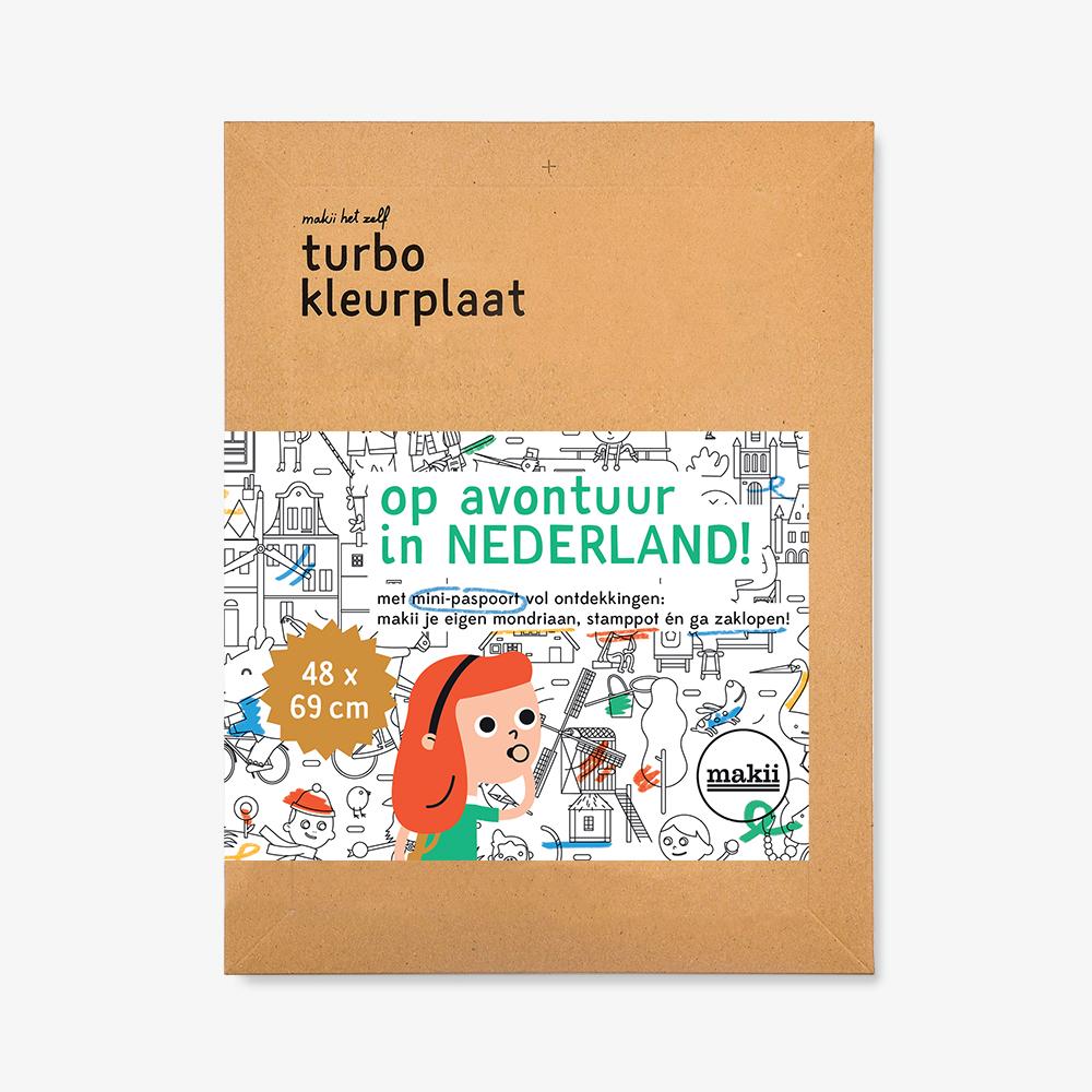 Makii – Kleurplaat – Op avontuur in Nederland – Lievelings