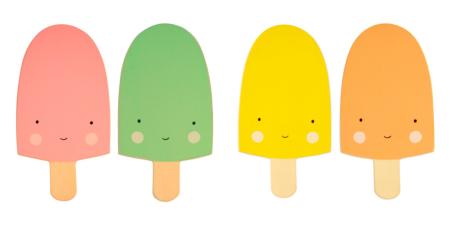 ijsjes diverse kleuren lievelings wandhaak