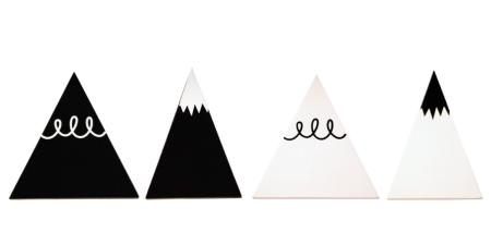 wandhaak berg zwart wit lievelings