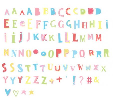 funky pastel letterset lievelings