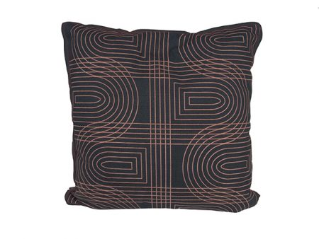 present time grid cushion vierkant donkerblauw:roze lievelings