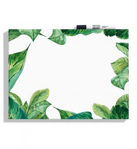 Dutch Design Brand Green Leaves Whiteboard incl Marker Lievelings