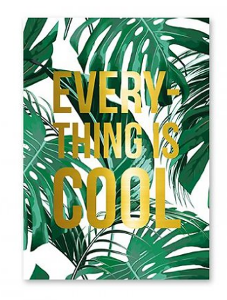 Studio stationery Everything is cool kaart lievelings