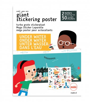 Under water Makii stickerplaat lievelings