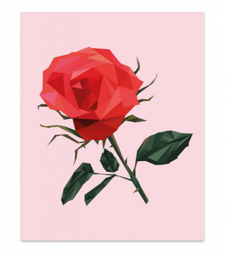 Studio stationery poster rose lievelings
