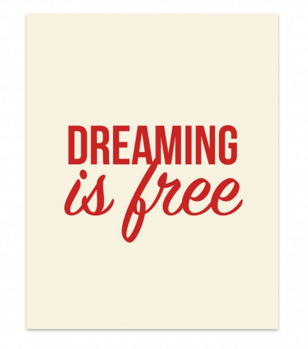 Studio stationery poster dreaming is free lievelings