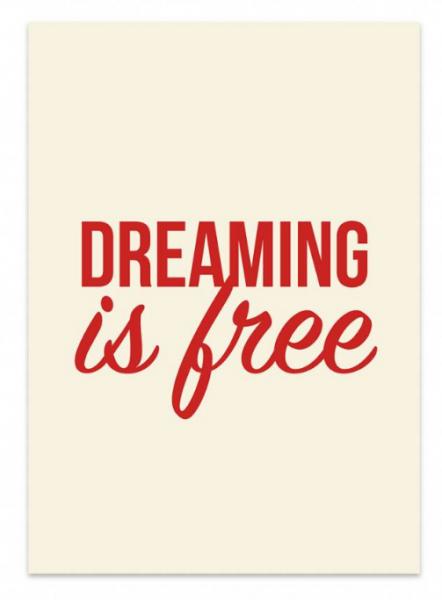 Studio stationery kaart dreaming is free lievelings
